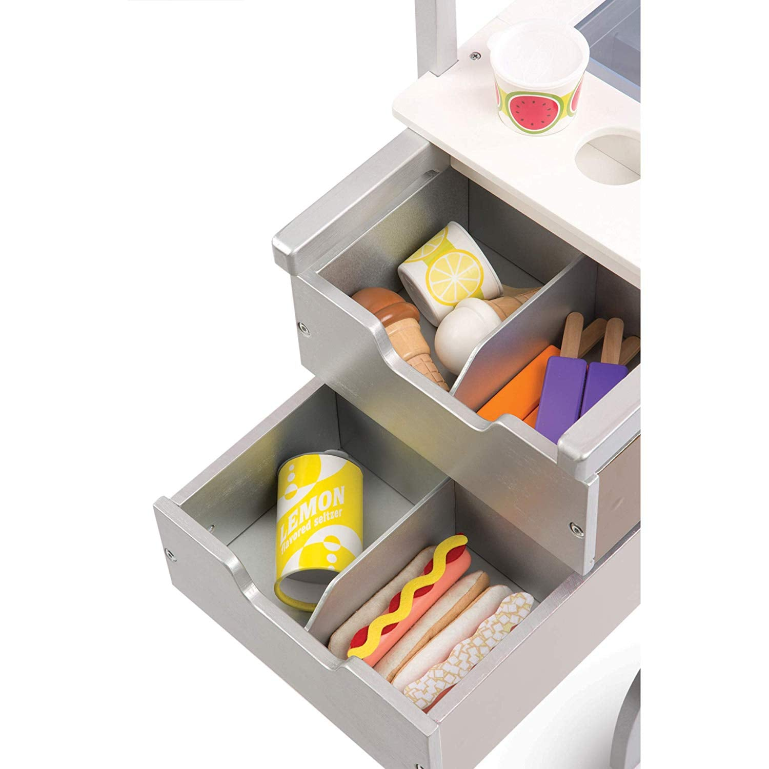 Melissa Doug Wooden Toy Snacks And Sweets Food Cart