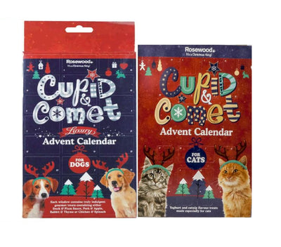 Rosewood Cupid & Comet Cats or Dogs Christmas Advent Calendar Pet Food Gifts