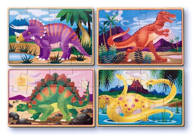 Melissa & Doug - Prehistoric Sunset Wooden Jigsaw Puzzle - 24 Pieces