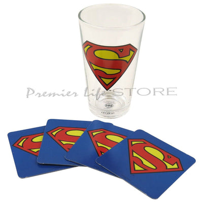 Superman Glass and Coaster Gift Set