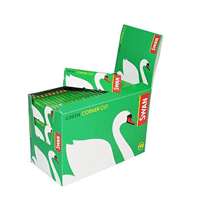 Swan Green Corner Cut Cigarette Rolling Papers - 100 Booklets