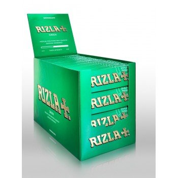 Rizla Green Regular  Rolling Papers Medium Thin - 100 Booklets