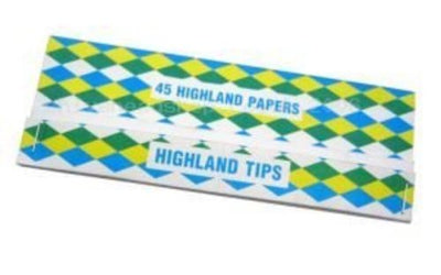 Highland Double Decadence Rolling Paper and Tips - 24 Booklets