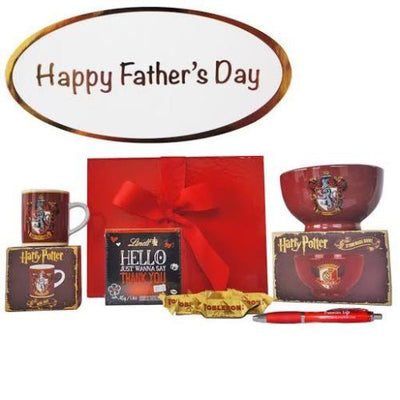 Fathers Day Gift with Harry Potter Mini Mug, Bowl, Lindt & Toblerones