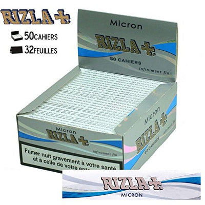 Rizla Micron Slim Rolling Paper Booklets - Pack of 50