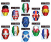 Country Flag Face Mask Printed Card Fancy Dress Official Flag Face