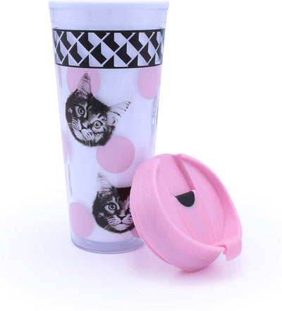 Cat Reusable Travel Mug by MUSTARD