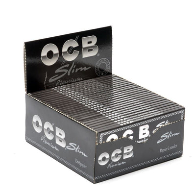OCB Premium Slim King Size Rolling Papers - Box of 50 Booklets