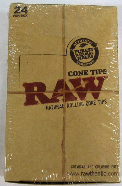 Raw Cone Filter Tips - Purest Natural Fibres - 24 Per Box