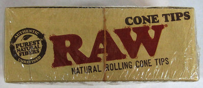 Raw Original Natural Unrefined Filter Tips - 50 Per Box