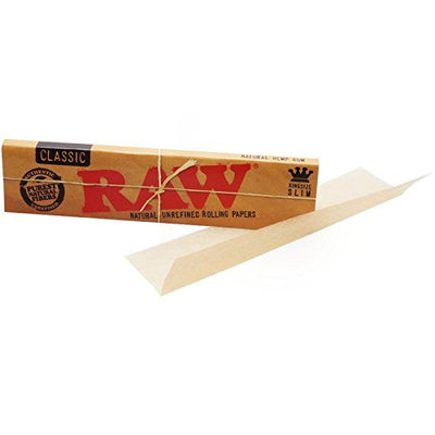 RAW Mini Rolling Tray + Raw Kingsize Papers, Bamboo Mat & Tips
