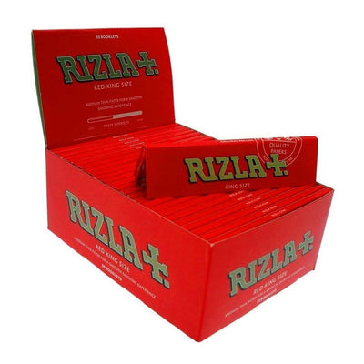 Rizla Tobbaco Red King Size Medium Thin Rolling Papers - 50 Booklets