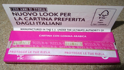 Rizla Regular Single Wide Pink Rolling Papers - 100 Booklets
