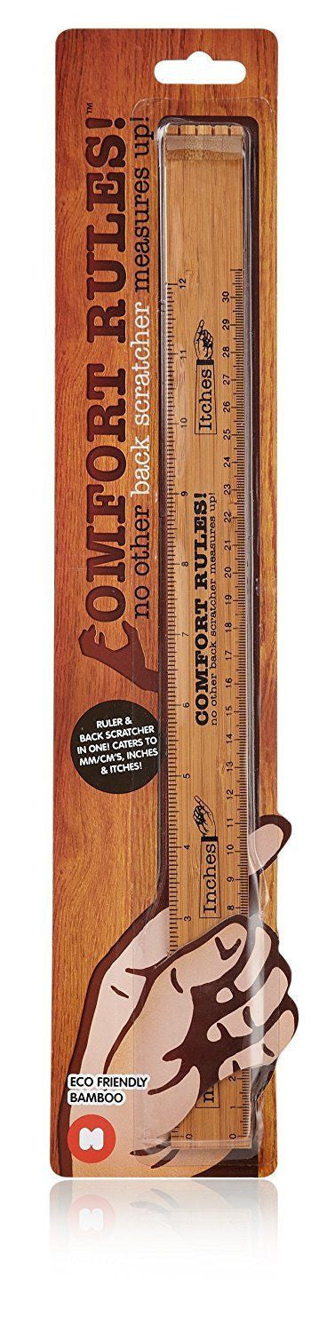 Comfort Rules - Ruler and back scratcher combo