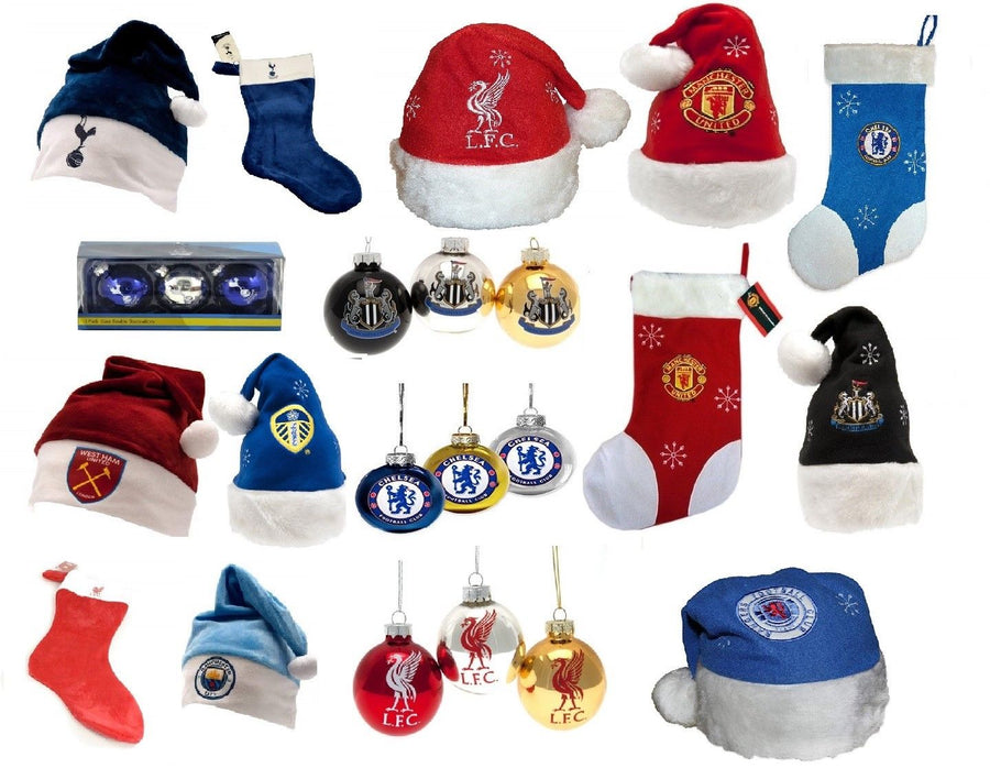 1a1f5ec9961c4 Christmas Football Club Team Selection Baubles Hats Stockings Gift