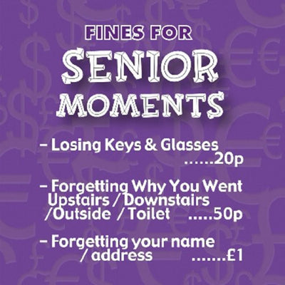Instant Fines Pay Up Tin - Senior Moments