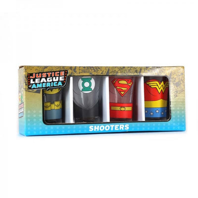 Justice League Of America Shot Glasses