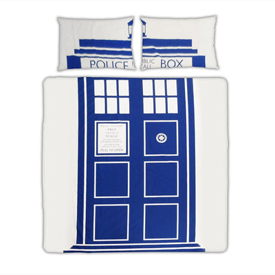 Doctor Who Tardis Double Duvet and Pillowcase Set