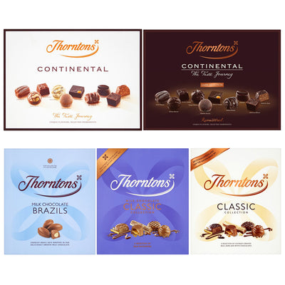 Thorntons Selection Assorted Continental Dark Milk Chocolate Box Family Gift Set