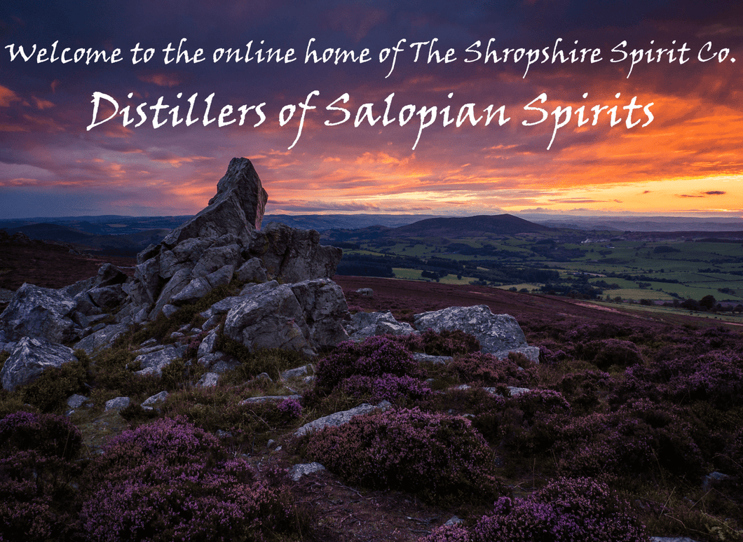 Salopian Spirits by The Shropshire Spirit Co. A view of the Shropshire hills.