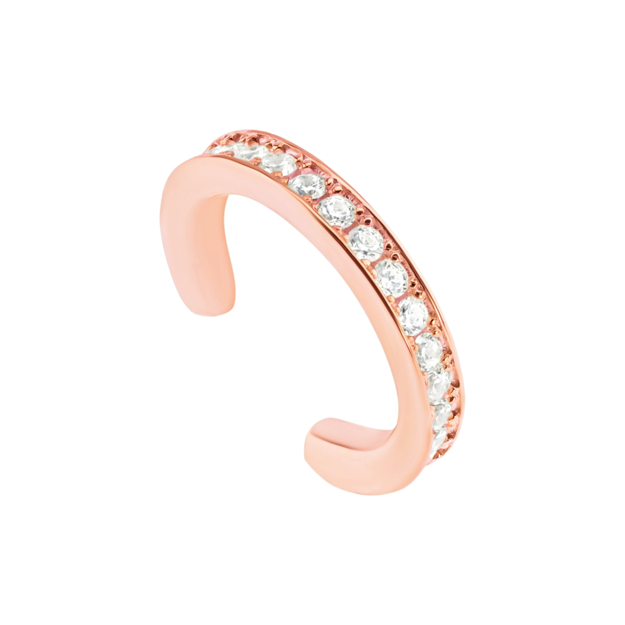 Pave Ear Cuff - Rose Gold - Voare Jewelry
