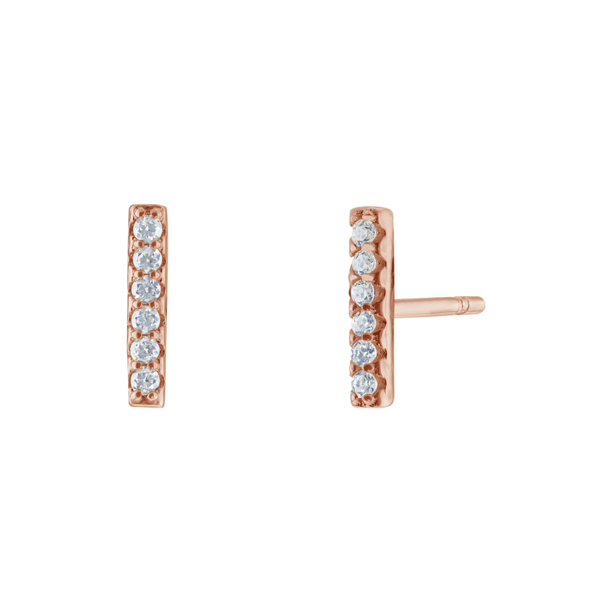 ca4d53396 Bar Pave Earrings - Rose Gold - Voare Jewelry ...