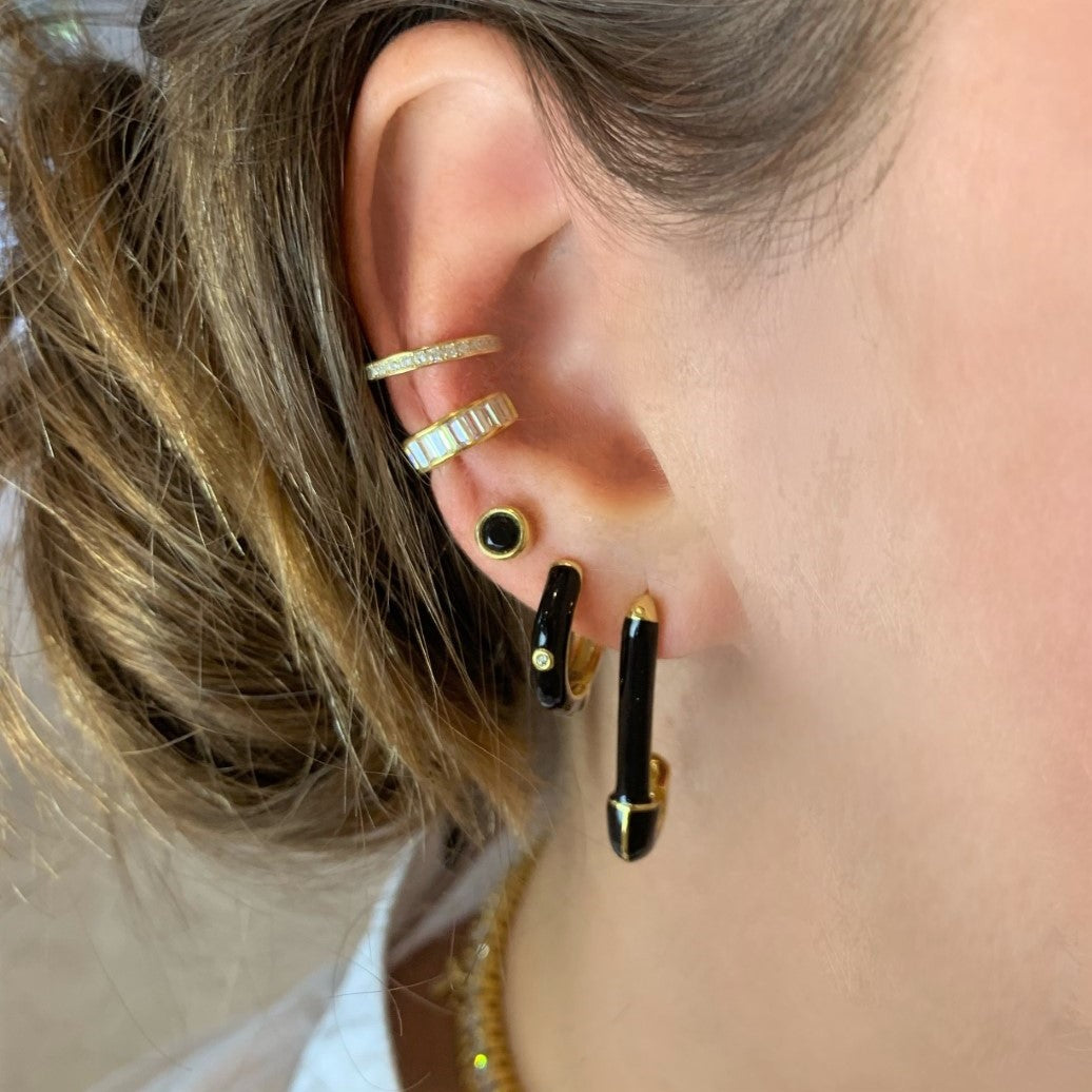 Pave Ear Cuff - Yellow Gold - Voare Jewelry