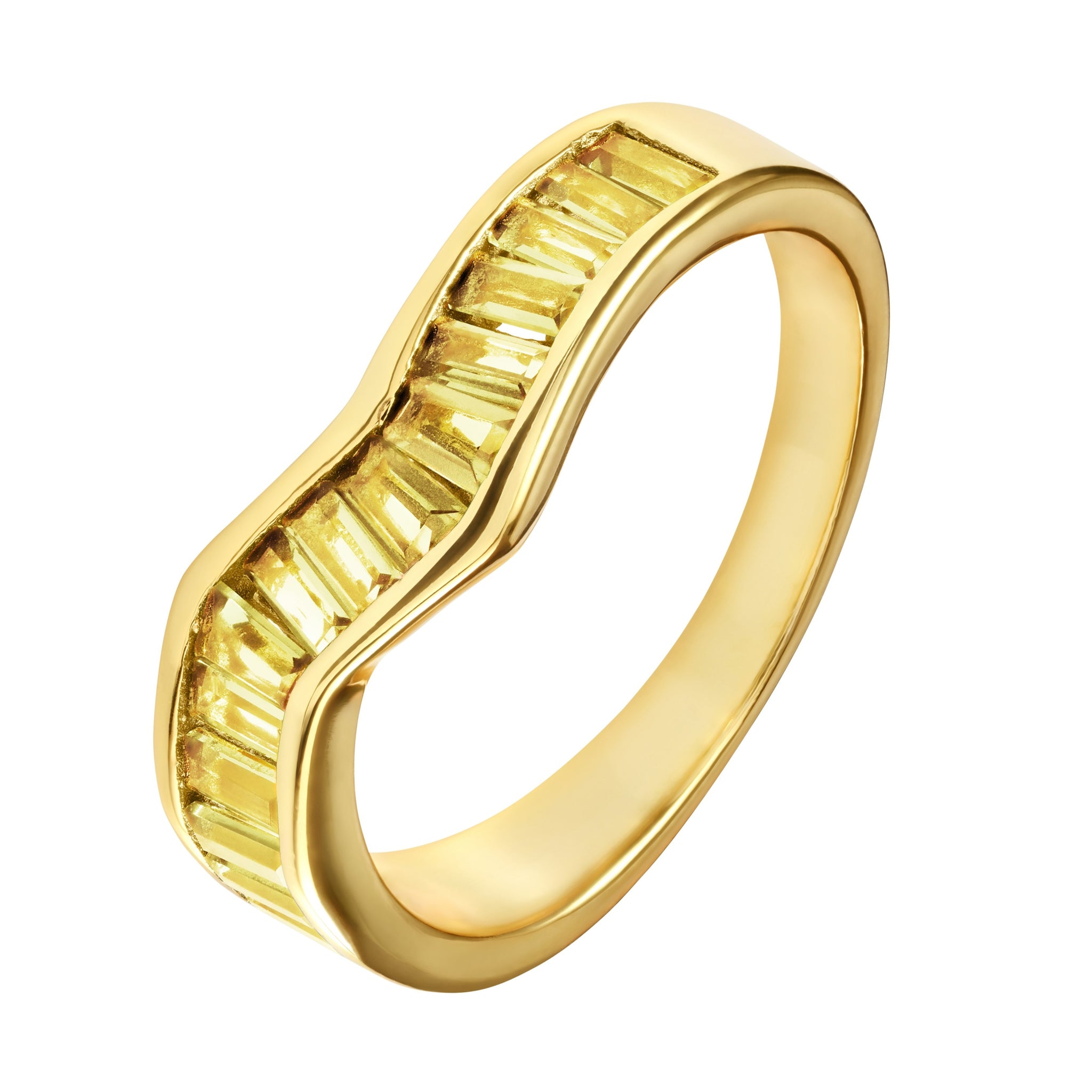 Yellow Baguette Ring - Yellow Gold - Voare Jewelry