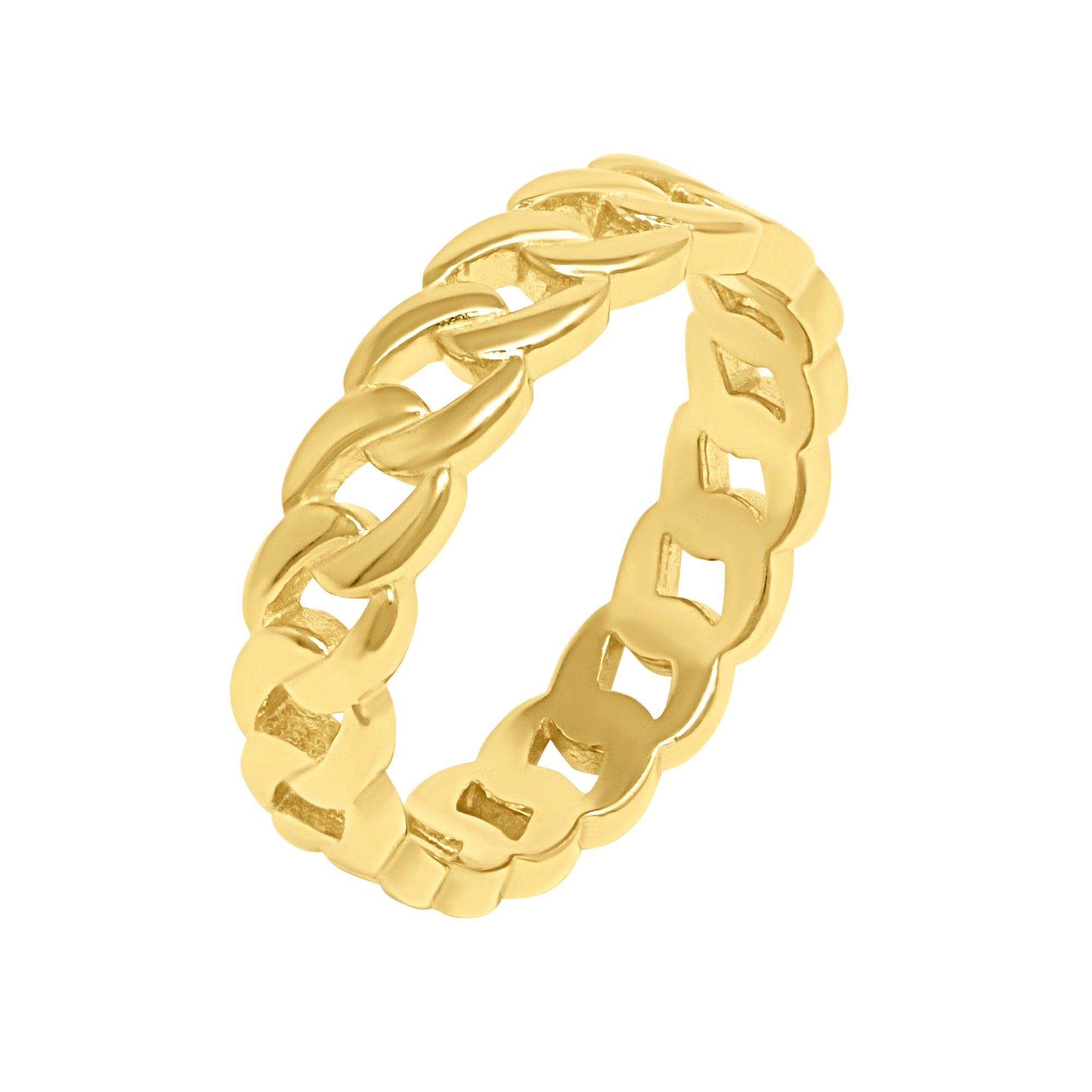 Chain Link Ring - Yellow Gold - Voare