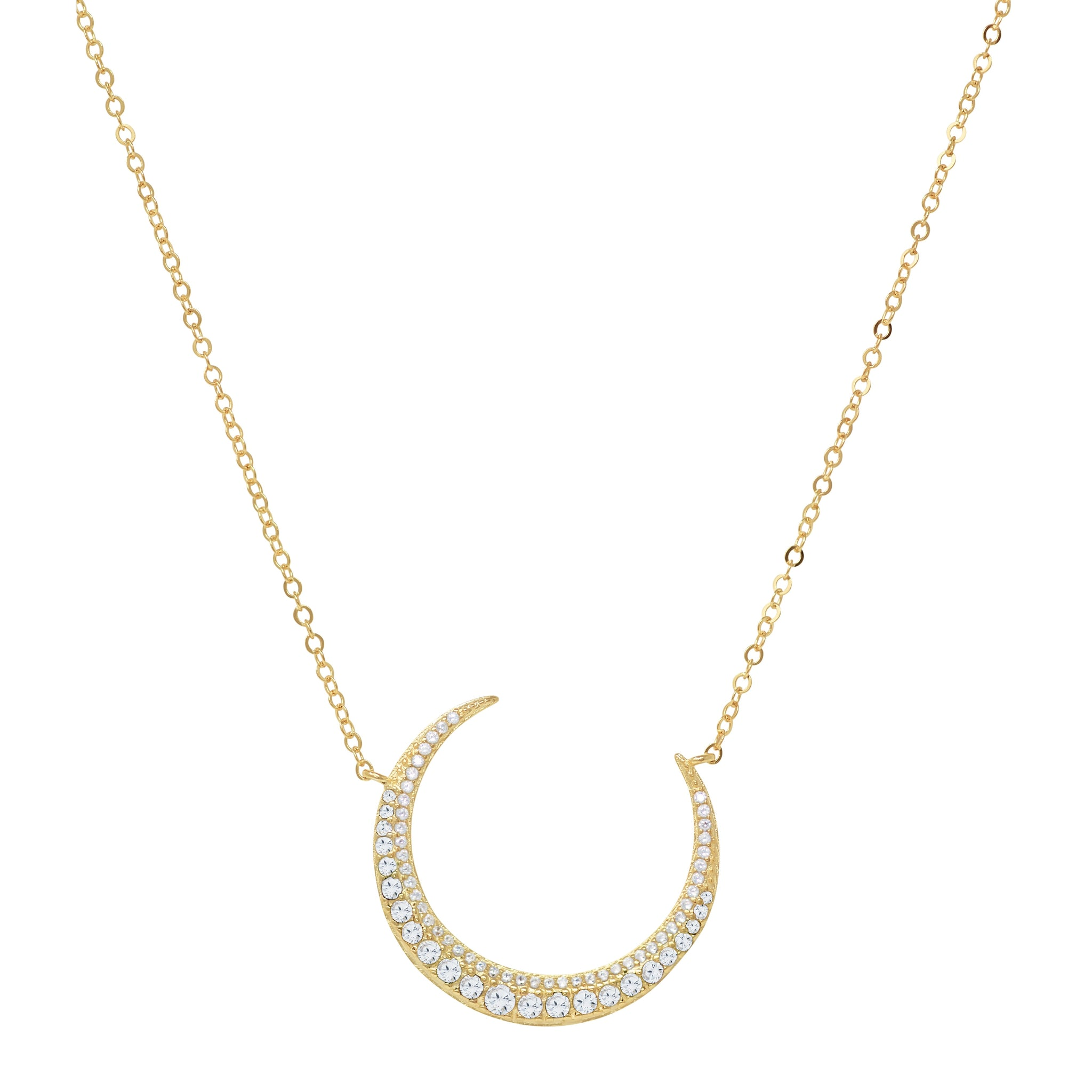 Crescent Moon Necklace - Yellow Gold - Voare