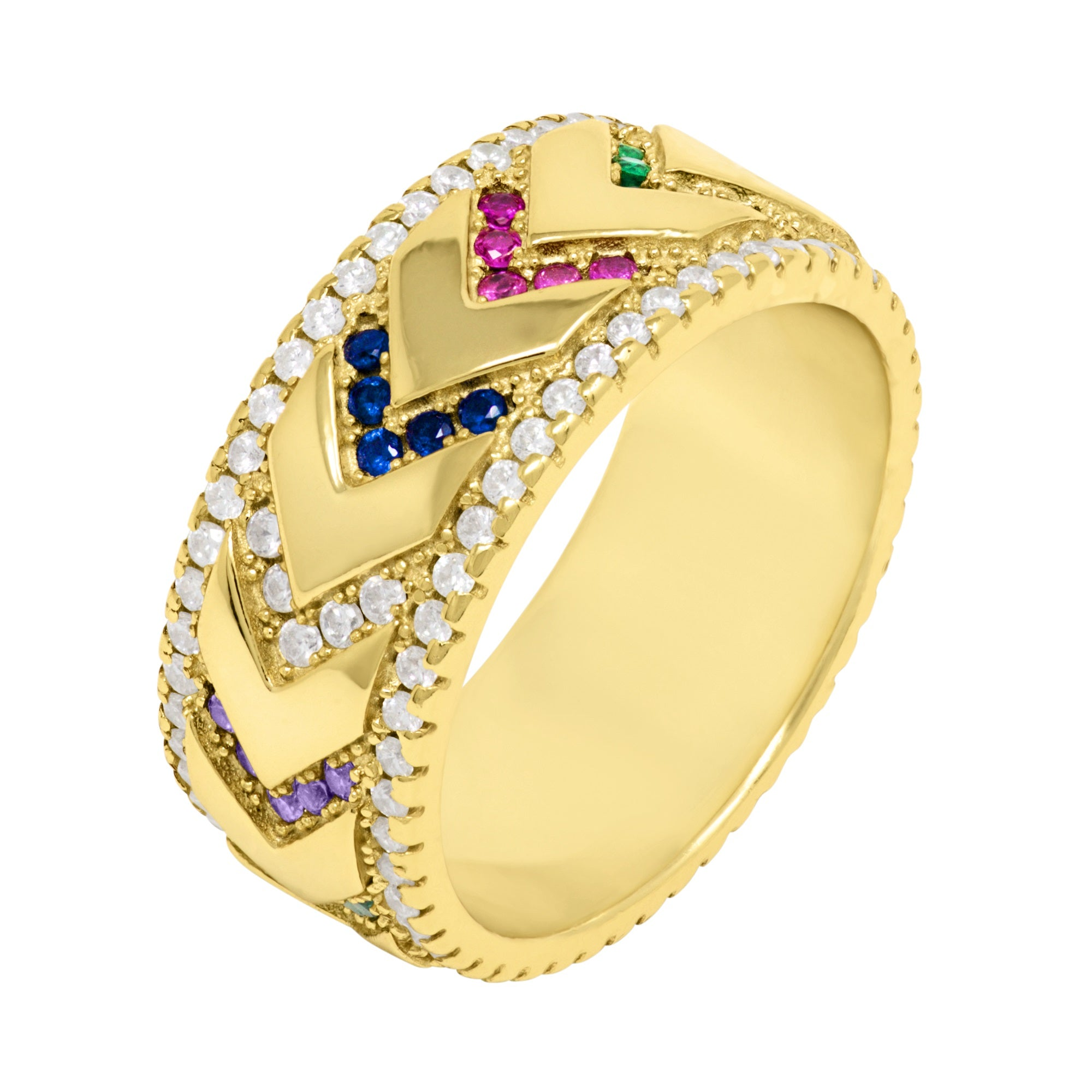 Rainbow Arrows Ring - Yellow Gold - Voare