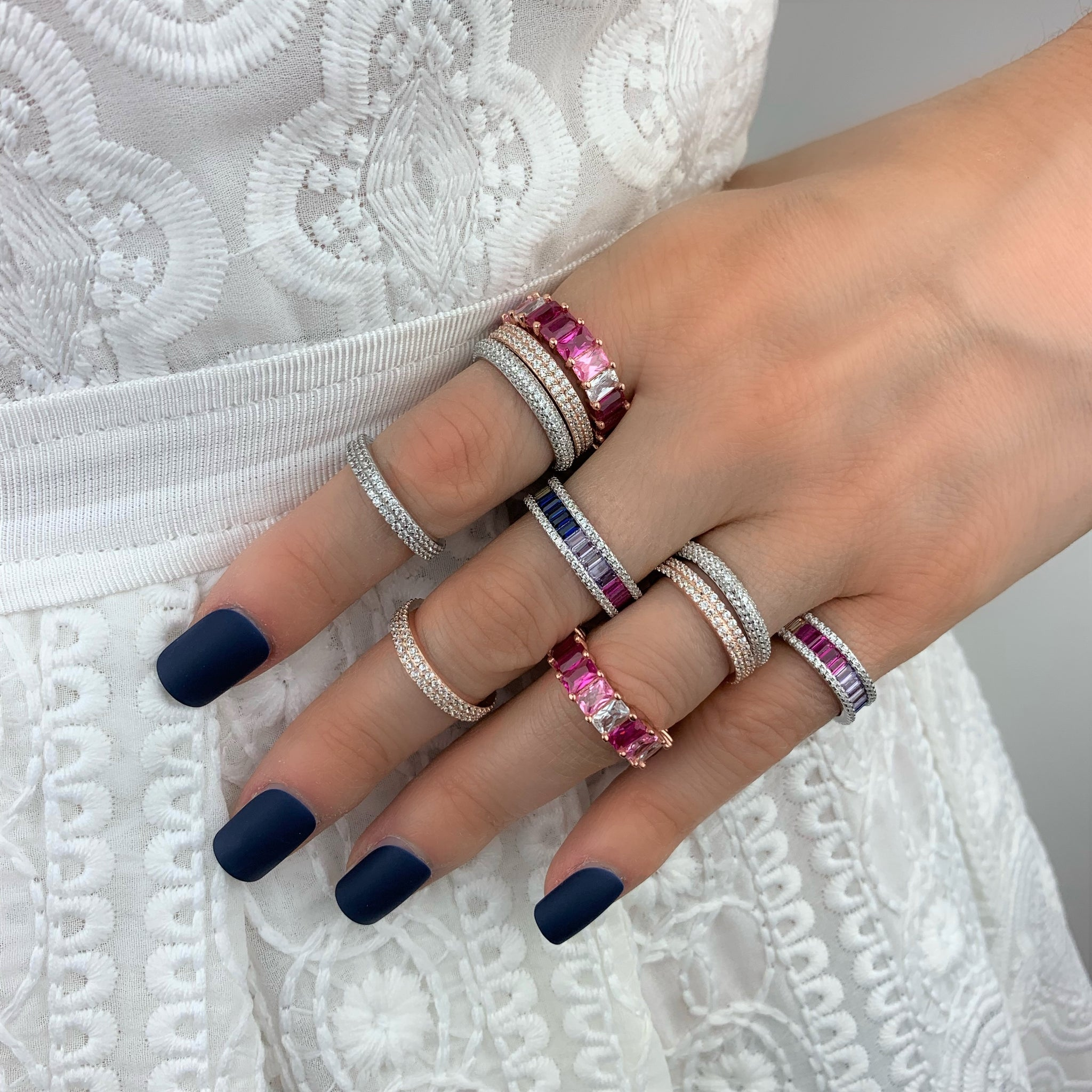 Pink Shades Eternity Ring - Rose Gold - Voare