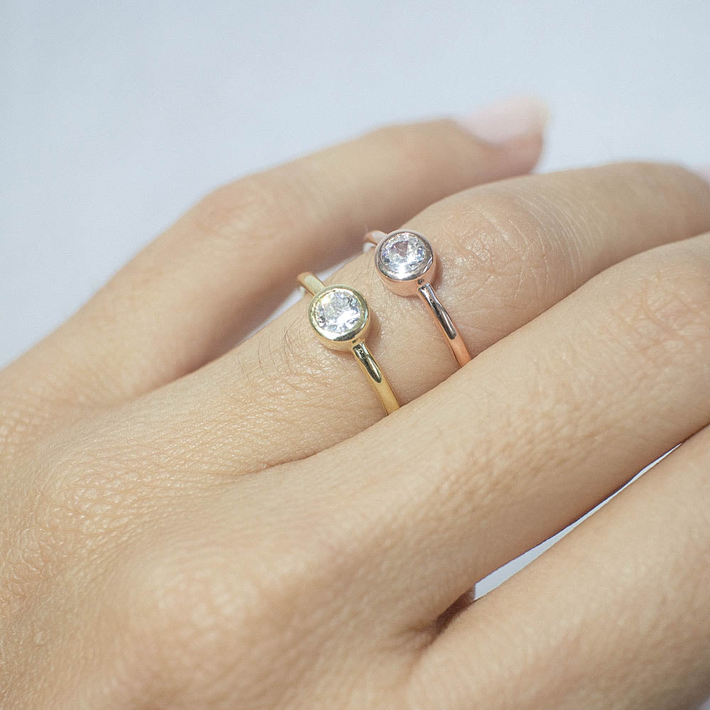 minimal ring - rose gold - voare jewelry