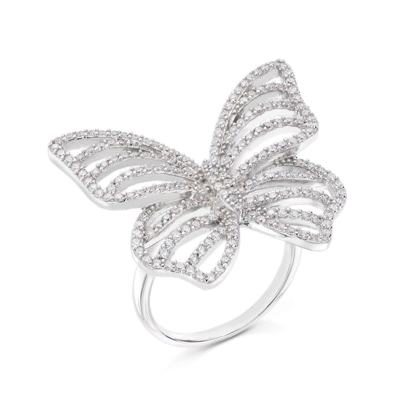 Contour Butterfly Ring - Sterling Silver - Voare Jewelry