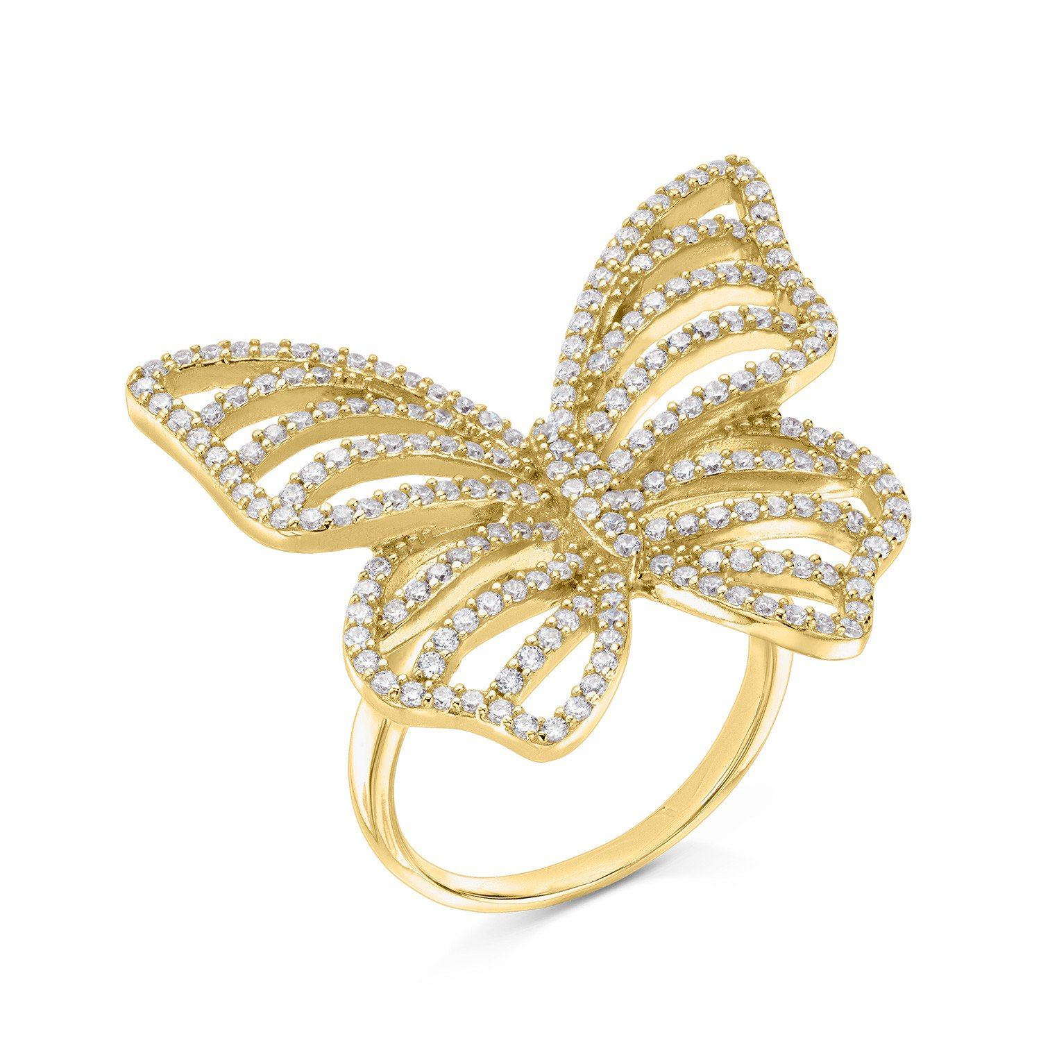 Contour Butterfly Ring - Yellow Gold - Voare