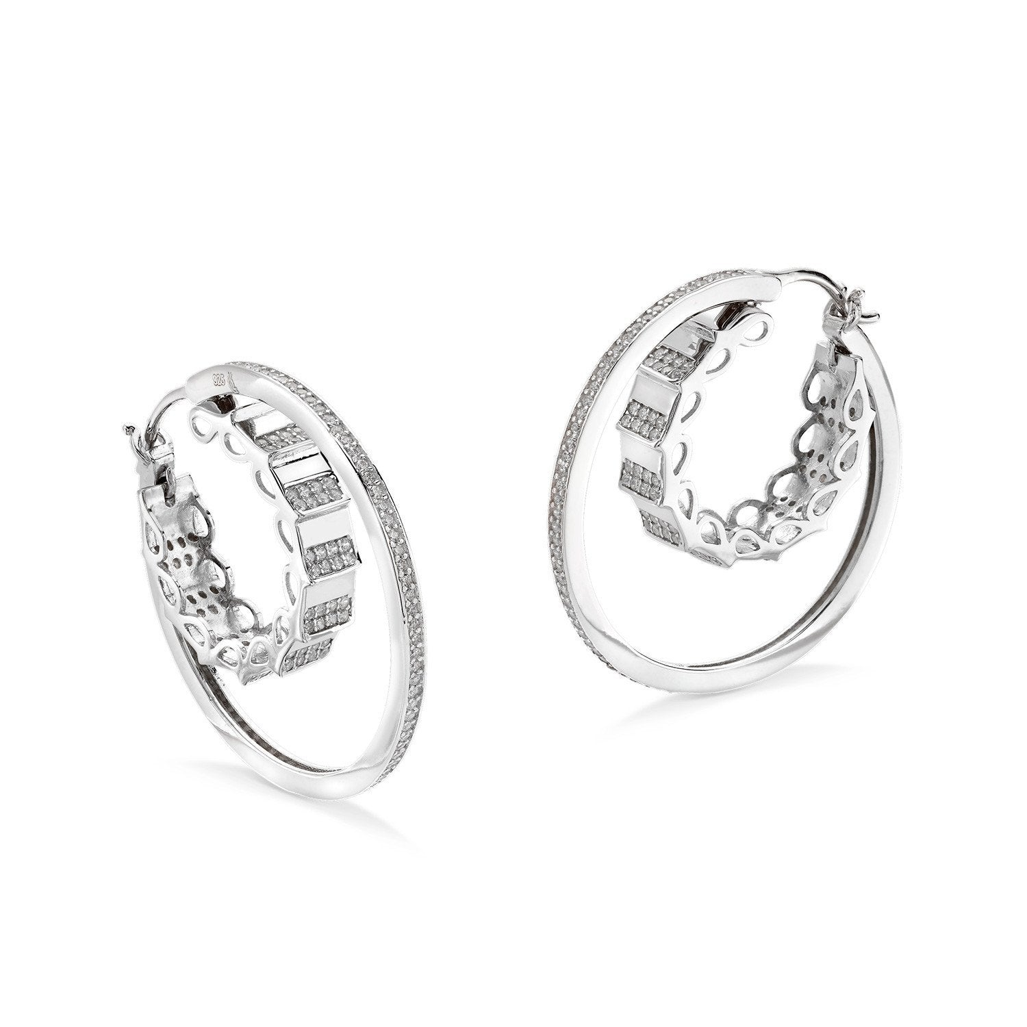 grand kupe products hoop mulberry twist silver earrings and