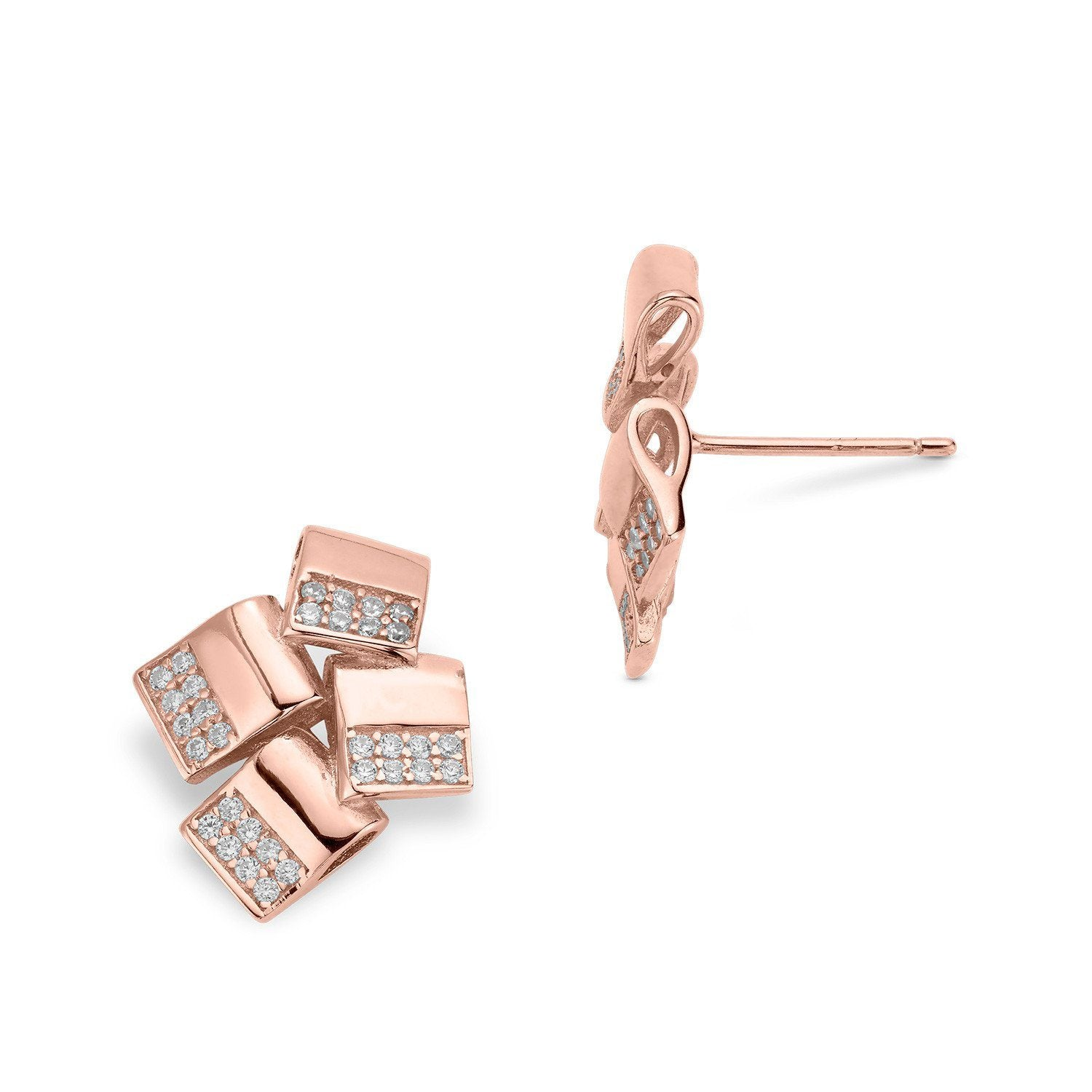 3f533e4f0 Scales Earrings - Rose Gold - Voare Jewelry ...