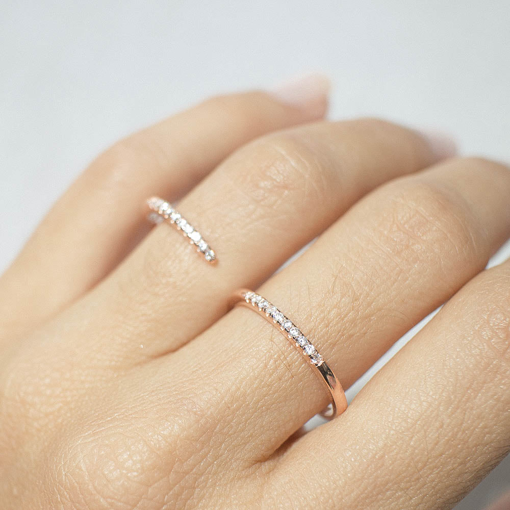 Wraparound Ring - Rose Gold - Voare Jewelry