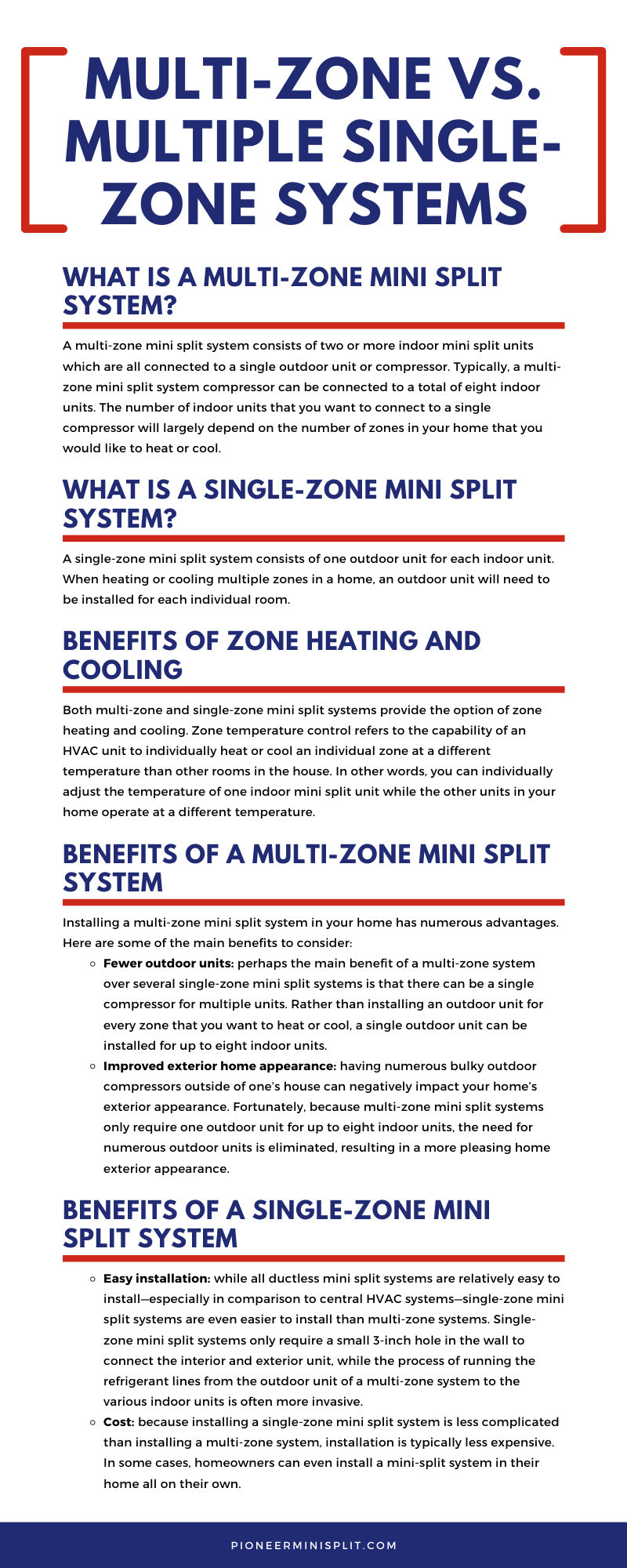 Multi-Zone vs. Single-Zone Systems