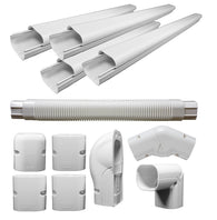 Decorative PVC Line Cover Kit for Mini Split Air Conditioners & Heat Pumps