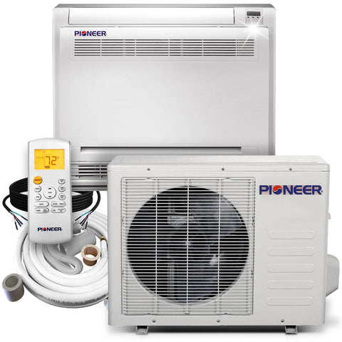 Pioneer® 12,000 BTU 20.5 SEER Floor Console Mini-Split Air Conditioner Heat Pump System Full Set