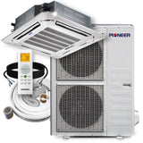 Pioneer® 48,000 BTU 16.8 SEER 8-Way Slim Cassette Mini-Split Air Cond Heat Pump System Full Set