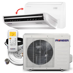 Pioneer® 18,000 BTU 20 SEER Floor/Ceiling Mini-Split Air Conditioner Heat Pump System Full Set