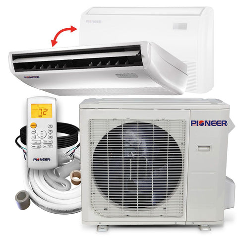 Pioneer® 36,000 BTU 16 SEER Floor/Ceiling Mini-Split Air Conditioner Heat Pump System Full Set