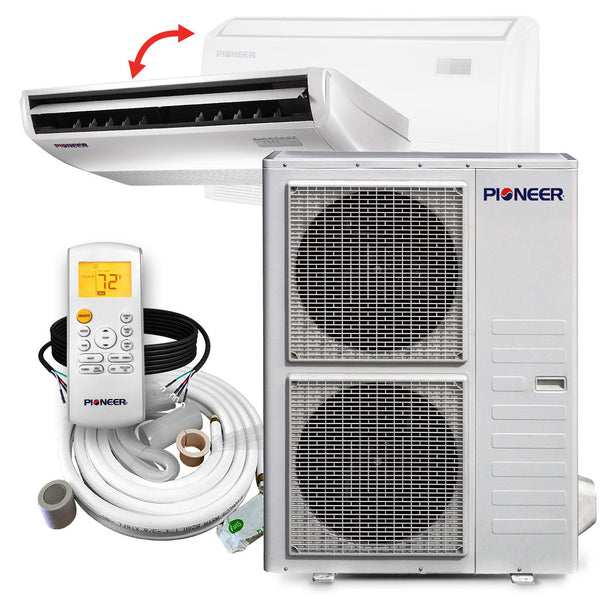 Pioneer® 48,000 BTU 17.8 SEER Floor/Ceiling Mini-Split Air Conditioner Heat Pump System Full Set