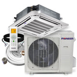 Pioneer® 36,000 BTU 17.5 SEER 8-Way Slim Cassette Mini-Split Air Cond Heat Pump System Full Set