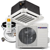 Pioneer® 18,000 BTU 20 SEER 8-Way Compact Cassette Mini-Split Air Cond Heat Pump System Full Set