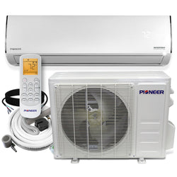 Pioneer® Diamante Series 12,000 BTU 19 SEER 230V Ductless Mini-Split Air Conditioner Heat Pump Full Set with 16 Ft. Kit
