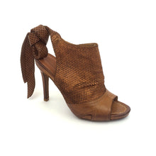 Tan Ankle Tied Sandal