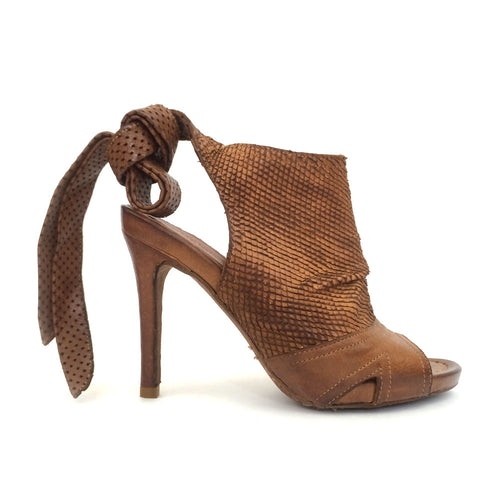Ankle Tied High Heel Sandal
